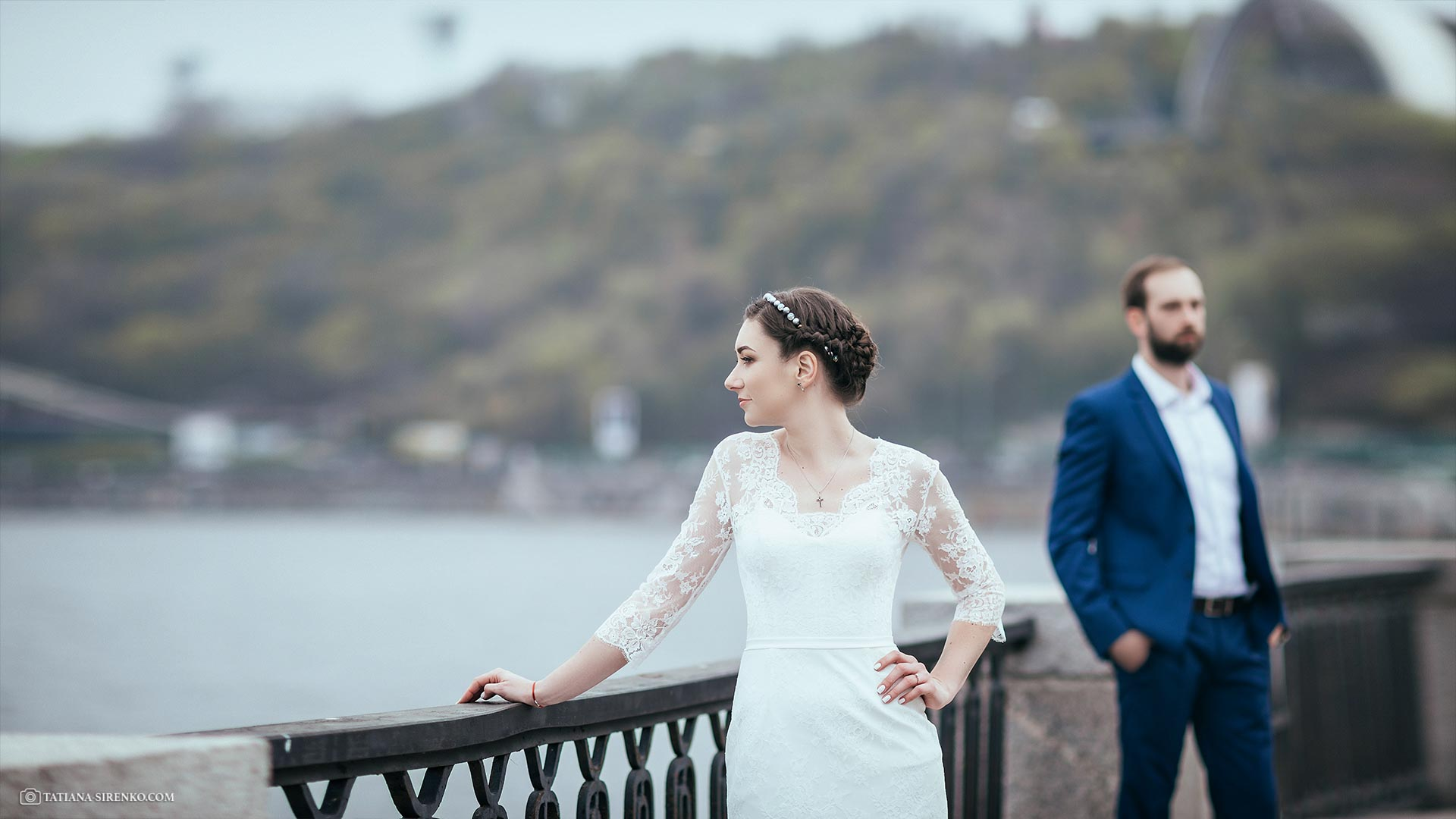 Свадебная фотографияна набережной