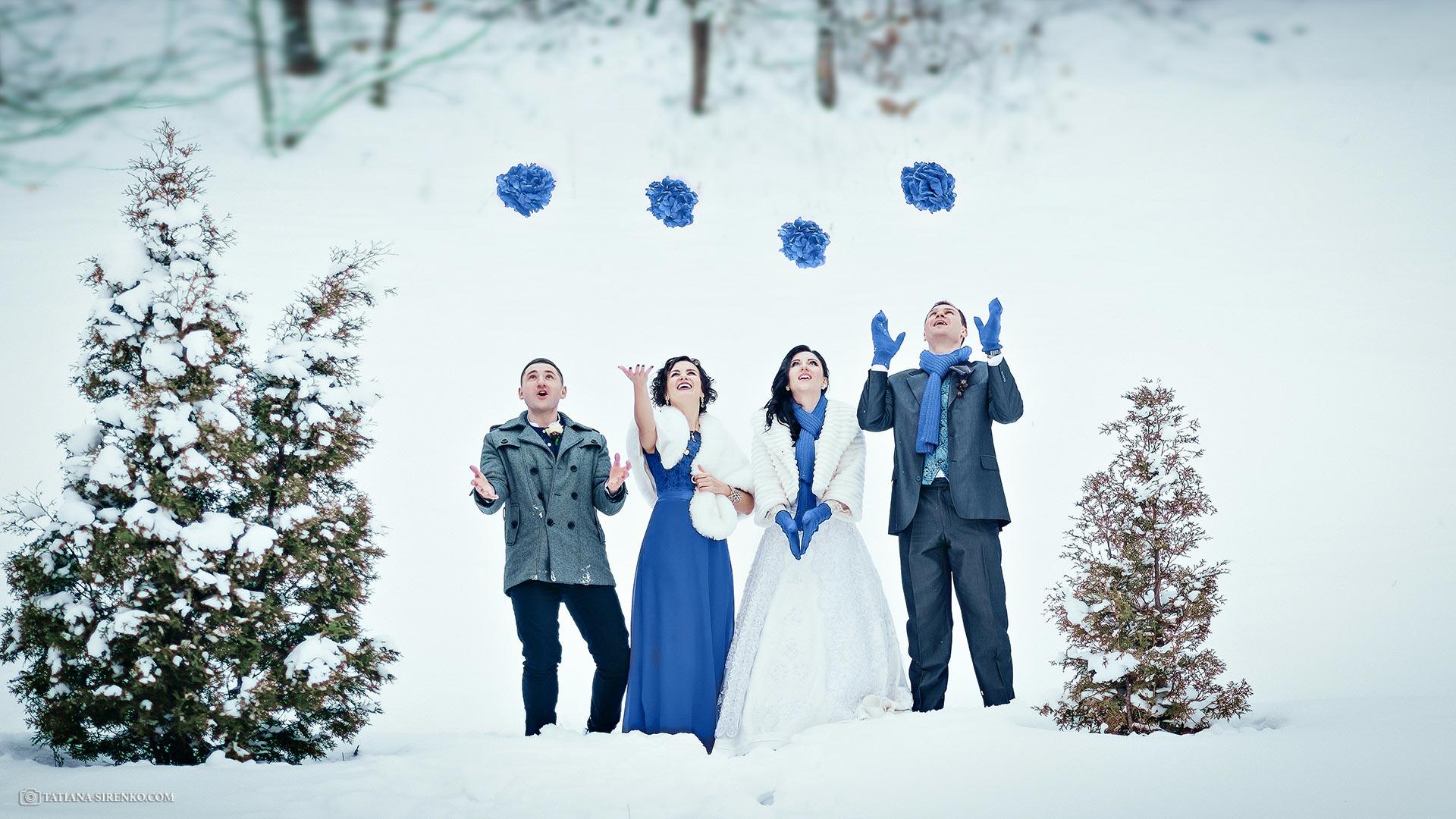 Свадебная фотосъемка зима