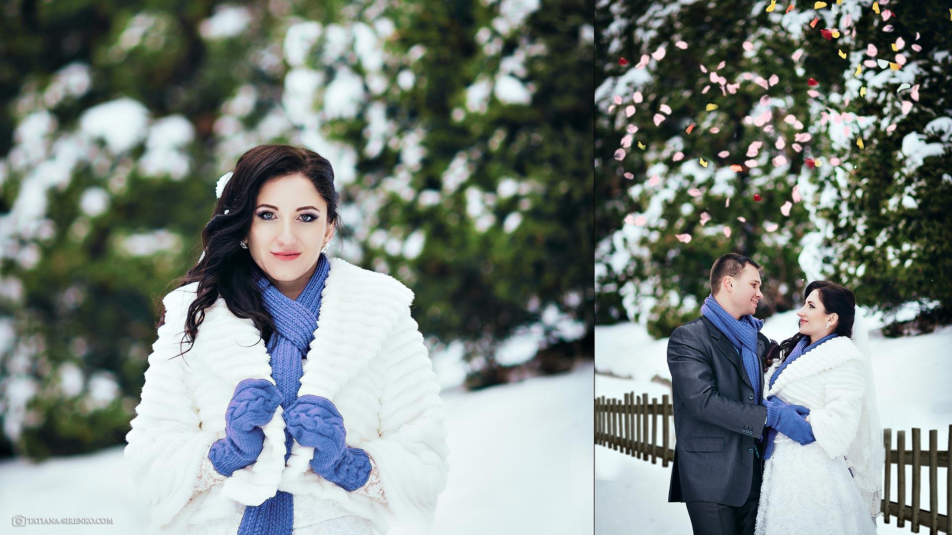Свадебная фотосъемка зимой Киев