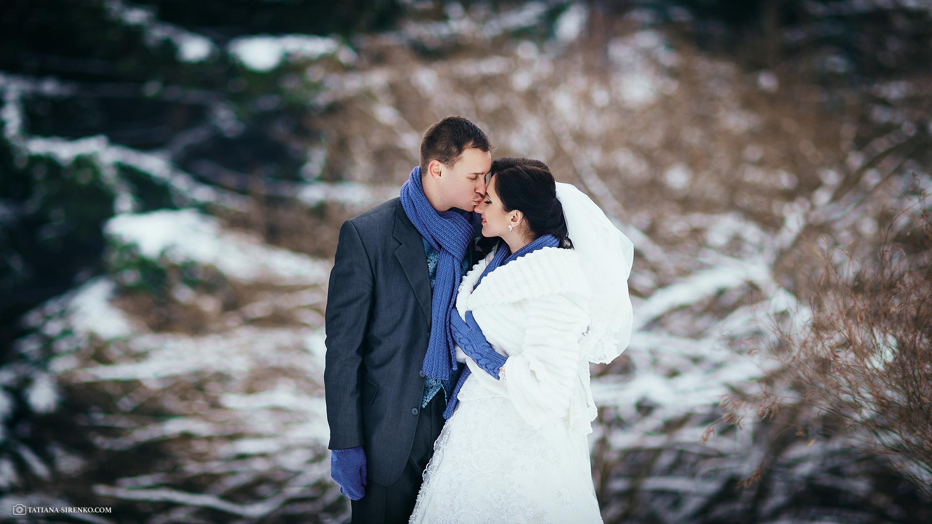 Свадебный фотограф зима