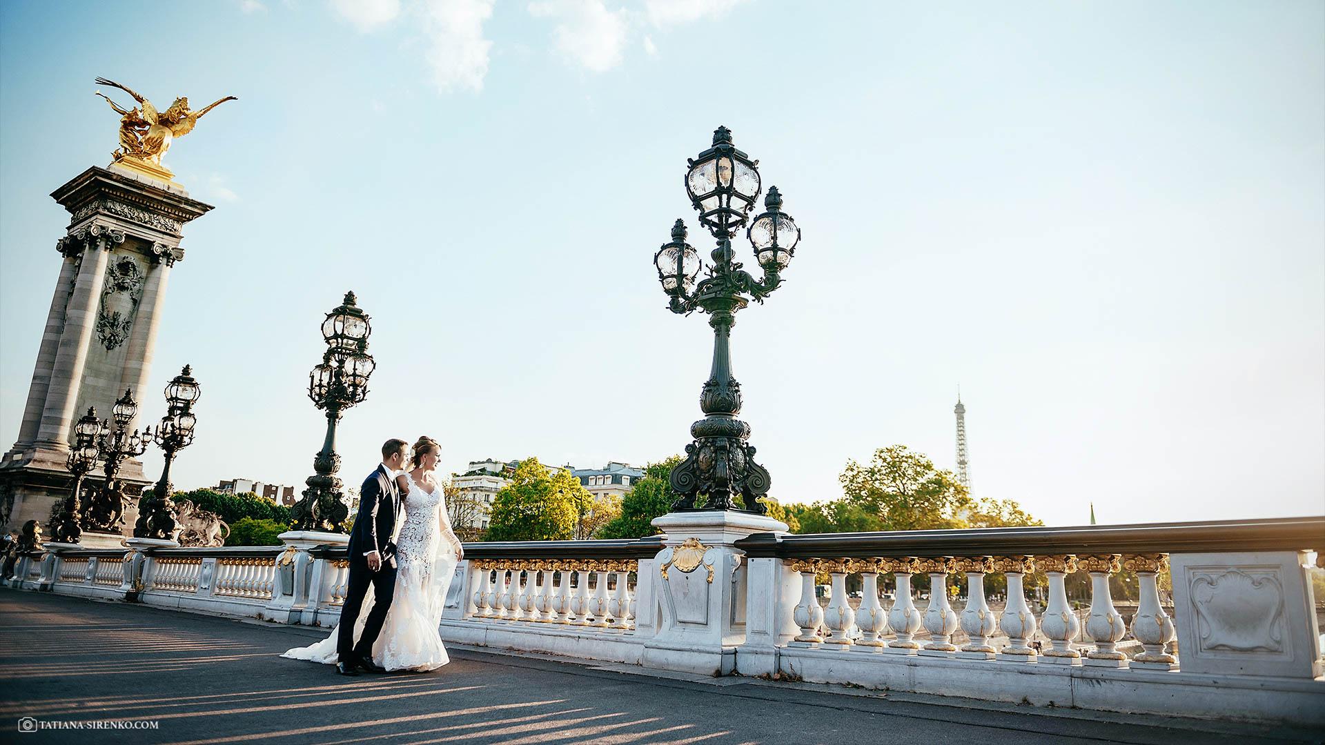 Свадебная фотографияв Париже