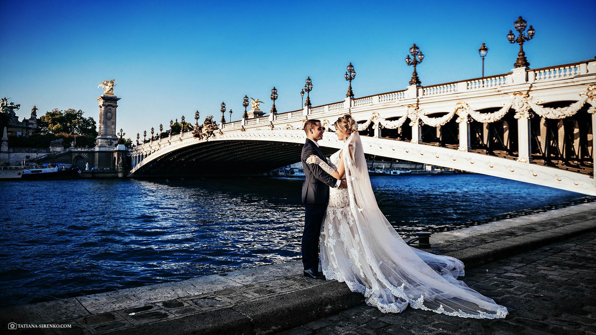 Фотограф на свадьбув Париже