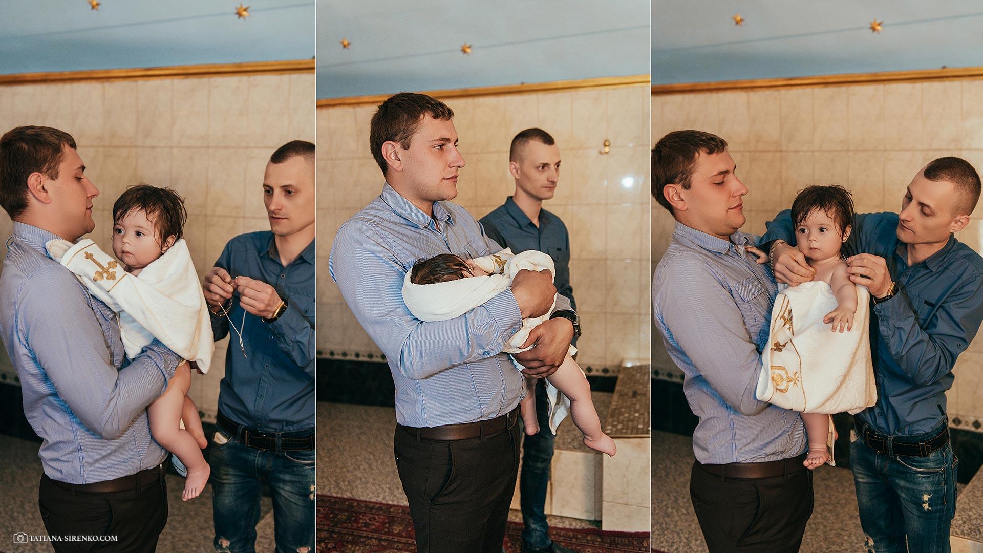 Крещение в Ильинском монастере