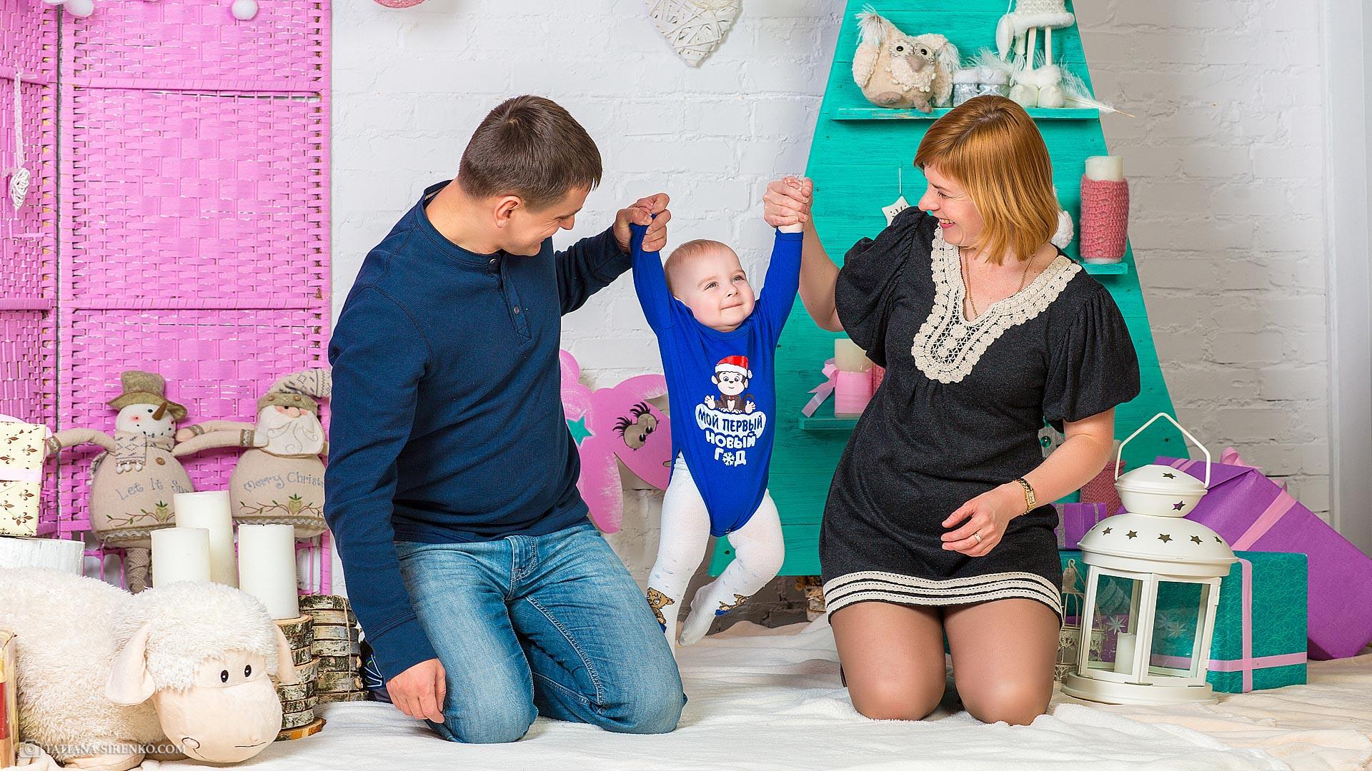 Новогодняя семейная фотосессъемка