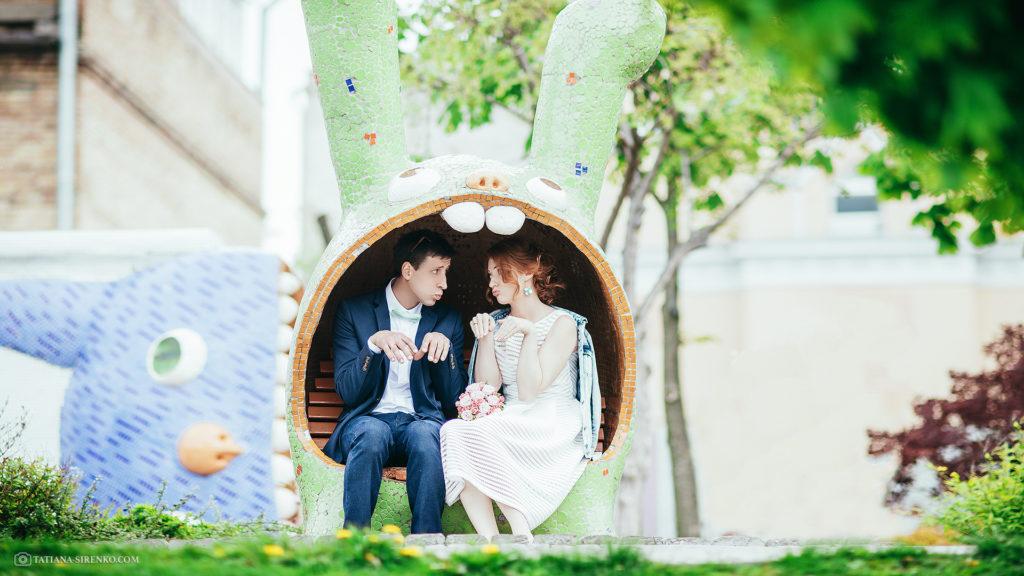 свадебная фотосессия на пейзажной аллеи