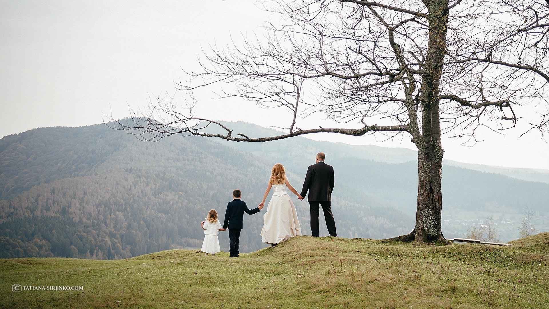 Свадебная фотосессия в Карпатах