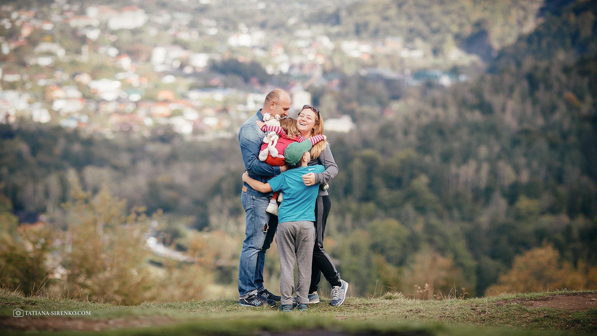 Семейная фотосессия в Карпатах