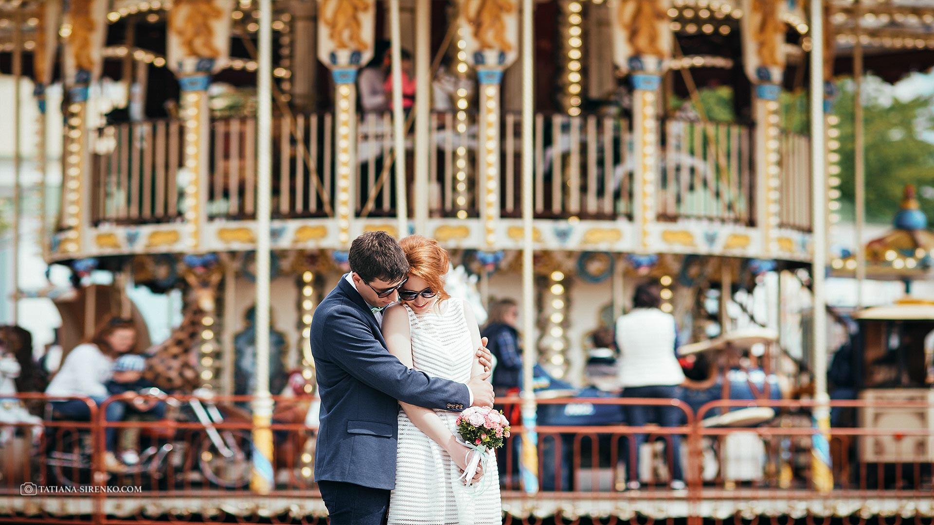 Свадебная фотосессия в Киеве на Михайловской площади